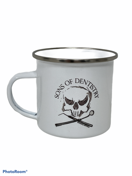 Sons of Dentistry Tasse weiß, Emaille