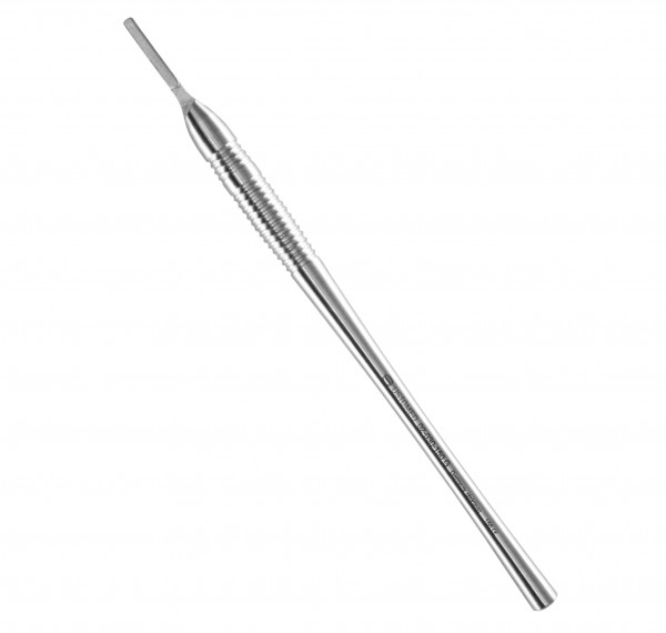 Scalpel handle, 15 cm, round shaped, smooth