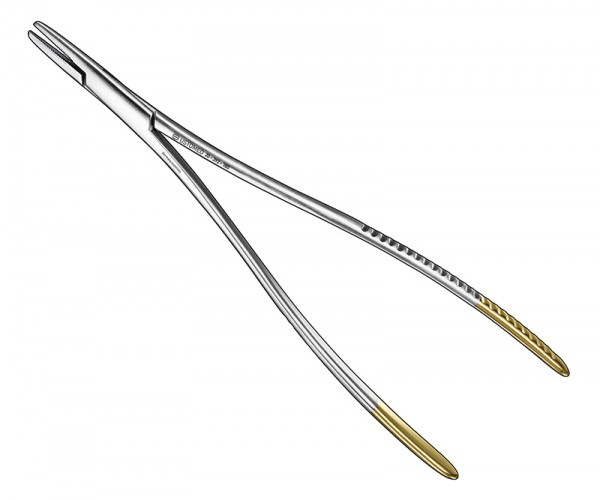 LANGENBECK, needle holder, 18 cm, TC